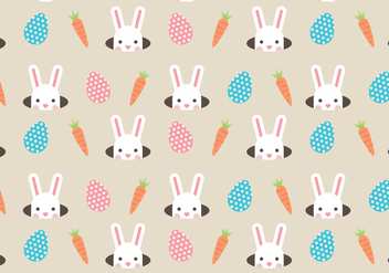Rabbits And Carrots - vector gratuit #431779