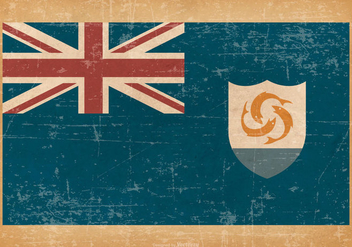 Flag of Anguilla on Grunge Style Background - vector #431809 gratis