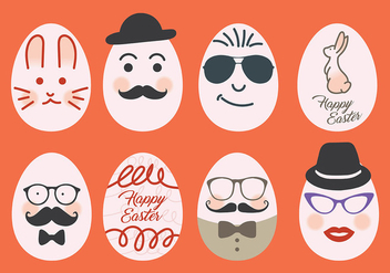 Hipster Easter Vector Icons - бесплатный vector #431829