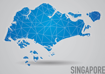 Grid Singapore Maps Background Vector - vector gratuit #431839