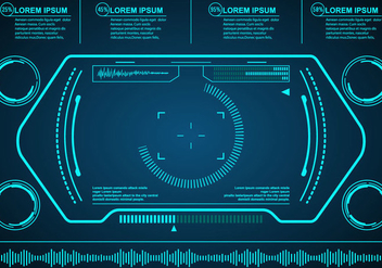 Technological HUD Vector Eelements - Free vector #431879