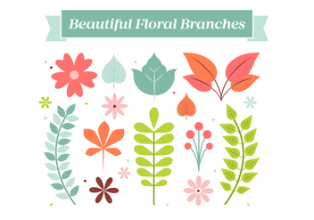 Free Vintage Flower Wreath Elements Background - Free vector #431899