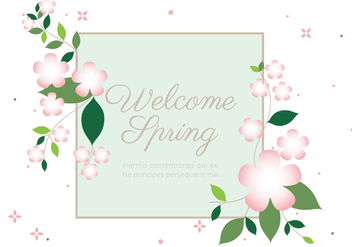 Free Spring Season Vector Background - Kostenloses vector #432009