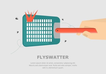 Fly Swatter Background - vector gratuit #432019