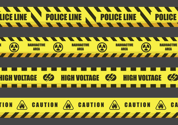 Danger Tape Vector Designs - Kostenloses vector #432029