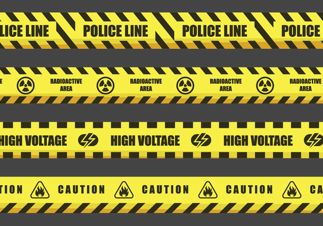 Danger Tape Vector Designs - vector #432029 gratis