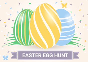 Free Easter Holiday Vector Background - vector gratuit #432059