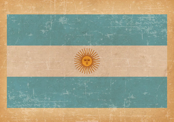 Flag of Argentina on Grunge Background - Free vector #432139