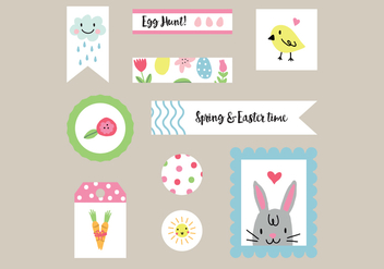 Colorful Easter Tags Vectors - Free vector #432179
