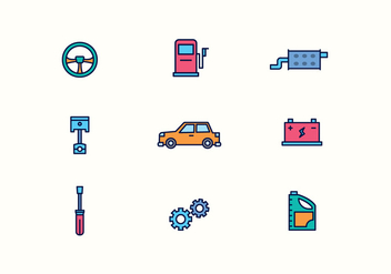Vector Car Repair Icons - Free vector #432209