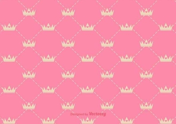 Vector Princess Crown Pattern - бесплатный vector #432239