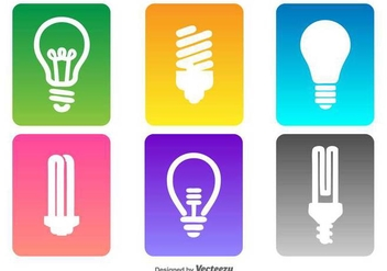 Vector Bulb Icon Set - vector #432259 gratis