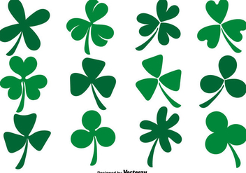 Vector Collection Of Flat Clover Icons - Free vector #432279