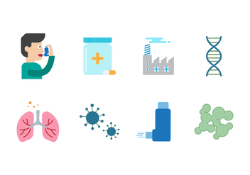 Free Asthma Vector Icons - Free vector #432339
