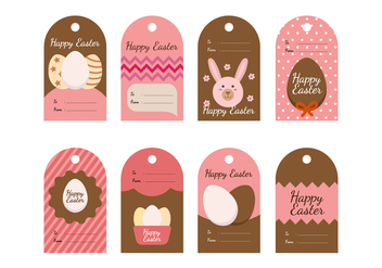 Free Easter Gift Tag Vector Collections - vector #432439 gratis