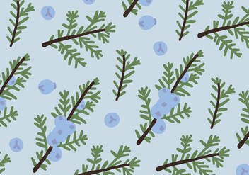 Blue Juniper Pattern - vector gratuit #432449