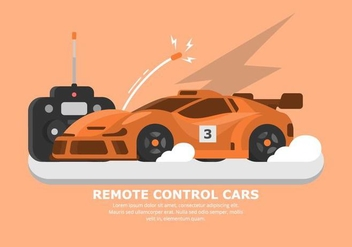 Orange RC Car Vector - Kostenloses vector #432469