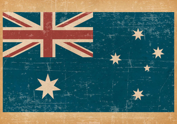 Flag of Australia on Grunge Background - Free vector #432489