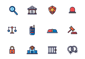 Law Enforcement Icons - Kostenloses vector #432529
