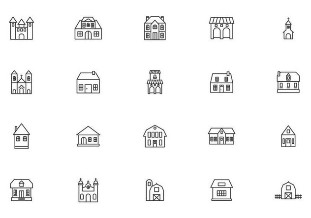 Historic and Colonial Building Vectors - Free vector #432539