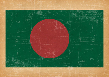 Flag of Bangladesh on Grunge Background - Free vector #432569