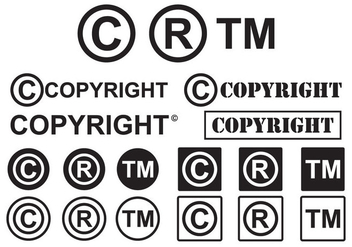 Set of Minimal Copyright Symbol Vectors - vector gratuit #432589