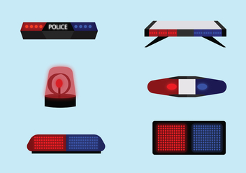 Police Light Vector Pack - Kostenloses vector #432609