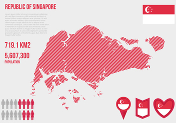 Free Singapore Map Infographic Vector - Kostenloses vector #432669