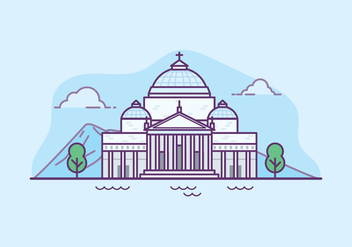 Basilica San Francesco di Paola Illustration - бесплатный vector #432679