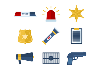 Free Police Vector Icons - vector gratuit #432699