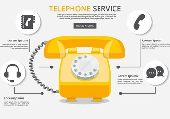 Free Telephone Service With Icons Vector - vector gratuit #432739