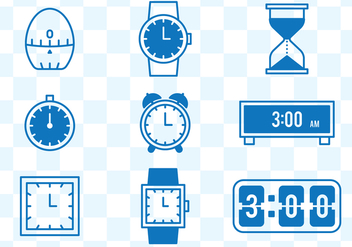 Watch Icons - vector #432789 gratis