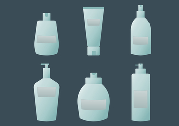 Blue Cosmetic Packaging Vectors - vector gratuit #432799
