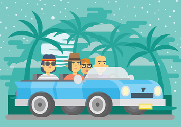 Carpool Vector Background - Free vector #432809
