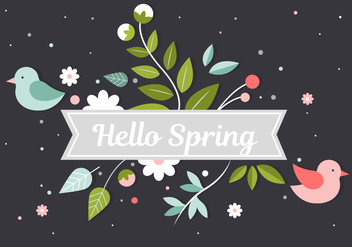 Free Spring Flower Vector Elements - Kostenloses vector #432839