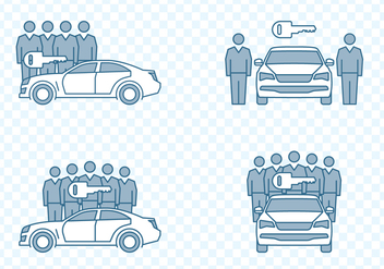 Car Sharing Icons - vector #432849 gratis