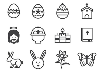 Free Easter Icons Vector - бесплатный vector #432899
