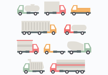 Set Of Trucks - vector gratuit #432989