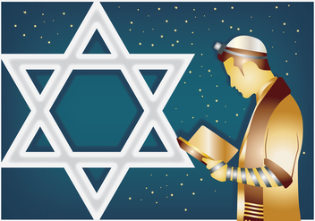 Jewish Man Praying - бесплатный vector #433009