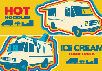 Food Truck Logo - vector #433029 gratis