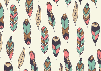 Beautiful Colorful Pattern Of Feathers - Free vector #433049