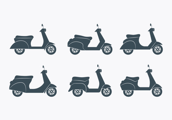 Lambretta Icon Set - vector gratuit #433079