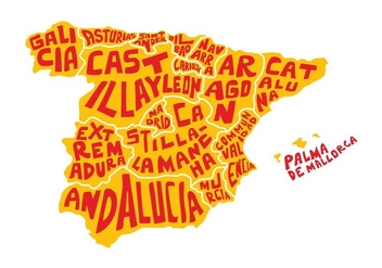 Free Spain Word Map Vector - vector gratuit #433099