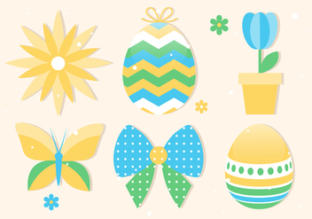 Free Spring Happy Easter Vector Illustration - Free vector #433109