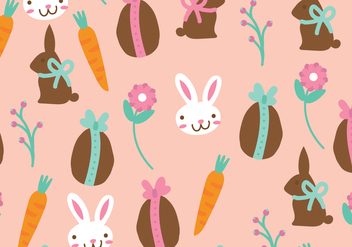 Cute Easter Pattern - Free vector #433179