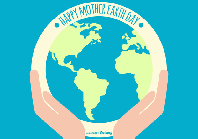 Flat Happy Earth Day Illustration - vector gratuit #433199
