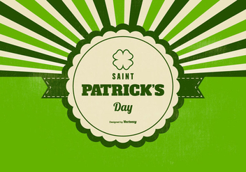 Retro Saint Patricks Day Background - vector #433219 gratis