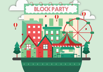 Block Party Vector Art - vector gratuit #433229
