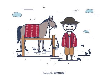 Gaucho Vector Background - vector #433279 gratis