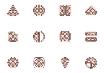 Vector Free Waffles Illustration - бесплатный vector #433299